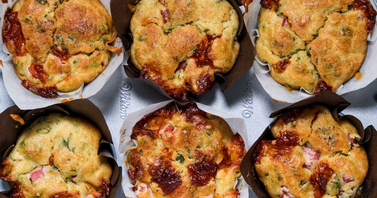 Muffin Salgado de Presunto & Queijo