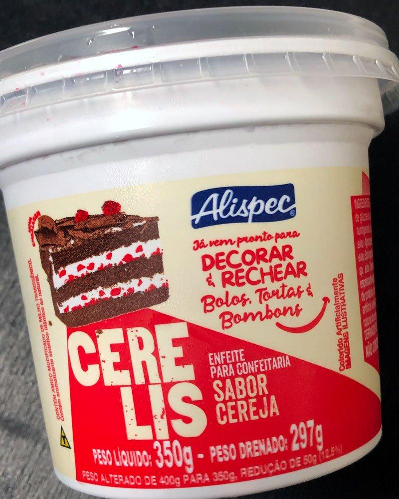 Embalagem do confeito sabor cereja cerelis.