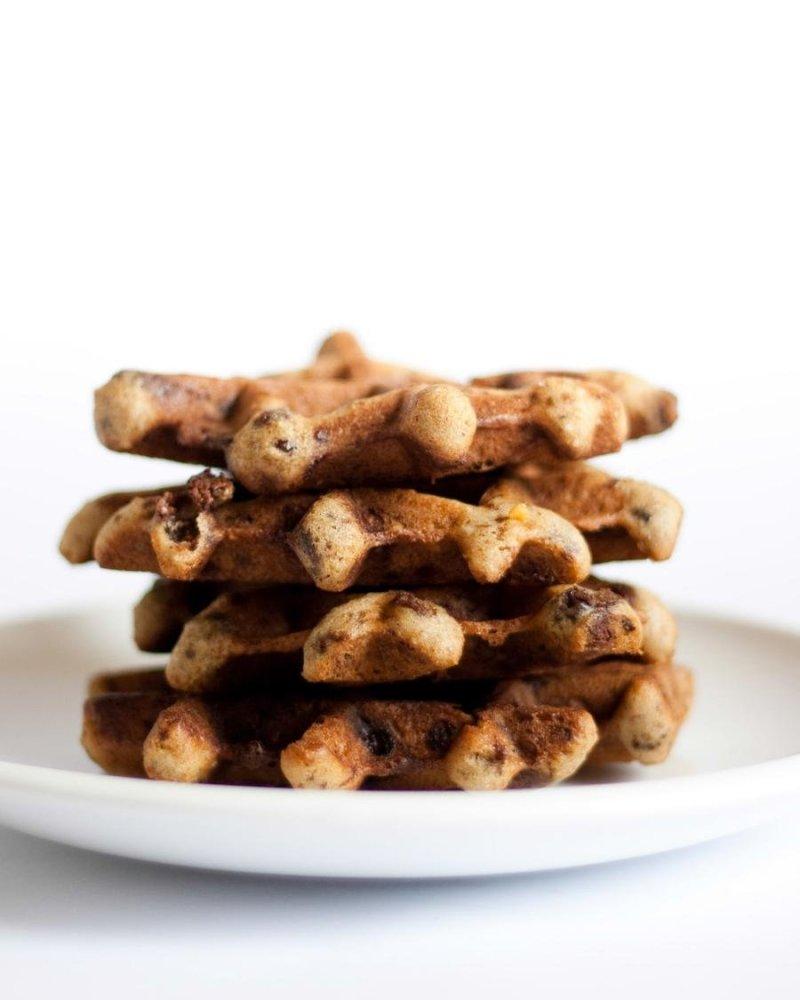 Cookie Waffle de Granola e Chocolate