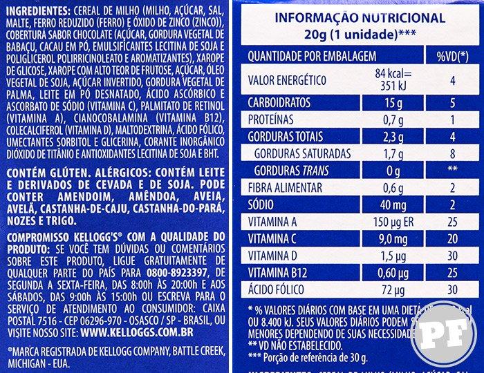 Barra de Sucrilhos da Kellogg's por PratoFundo.com