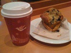 Mocha café com blueberry muffin @ Starbucks