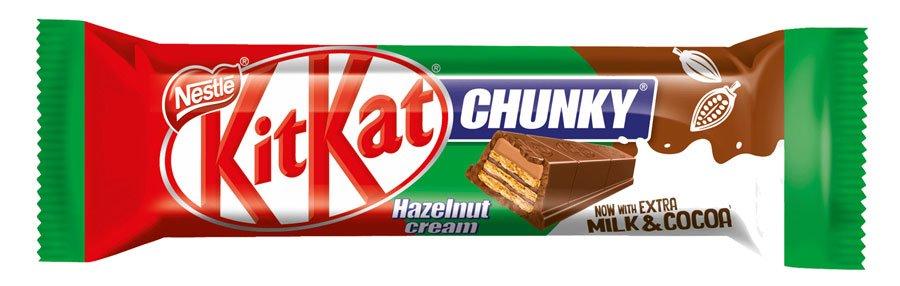 Embalagem do Kit Kat Chunky Hazelnut