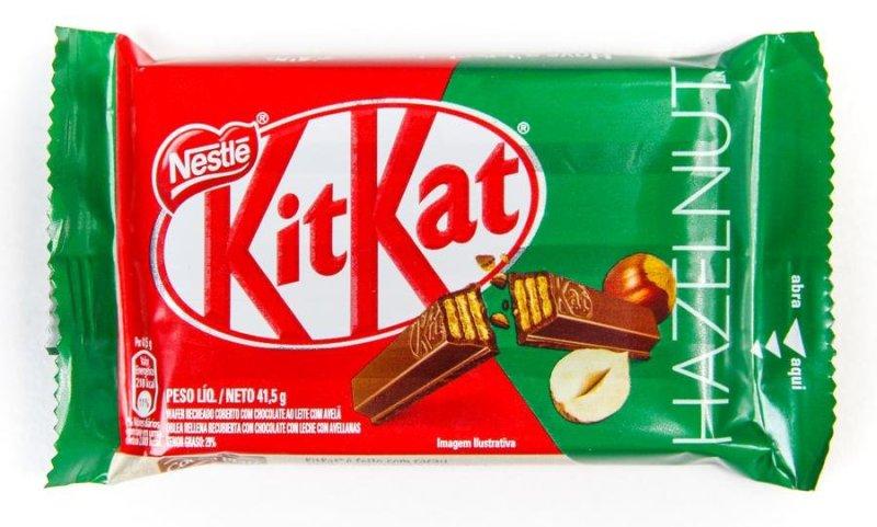 Embalagem do Kit Kat Avelã (Hazelnut)