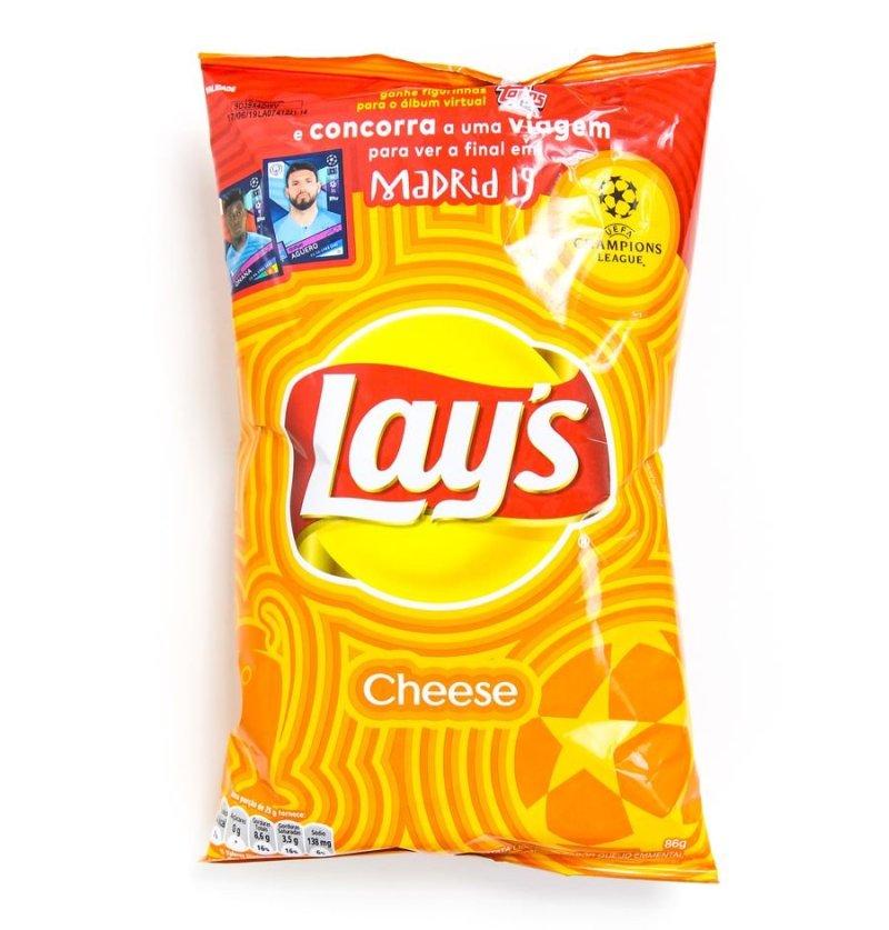 Embalagem do salgadinho lay's cheese