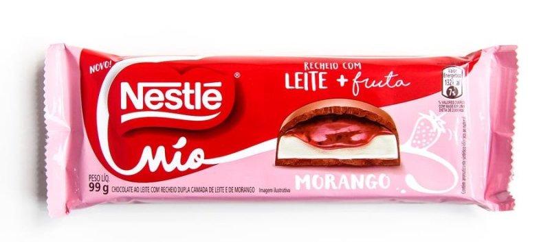Nestlé Mio Morango: embalagem