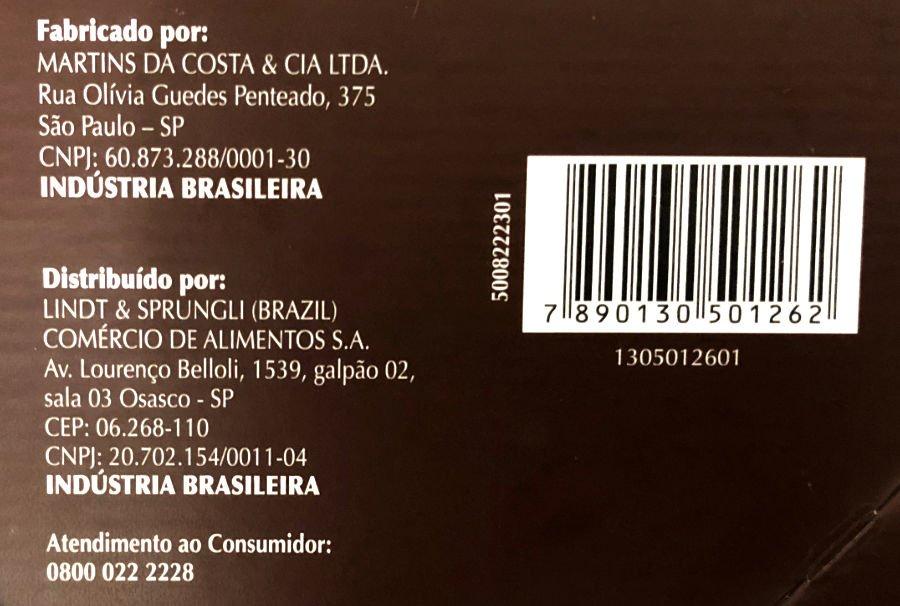 Fabricante do Panettone Lindt Laranja Siciliana e Gotas de Chocolate Amargo