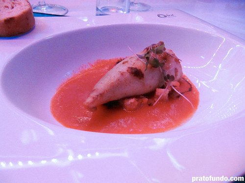 Brastemp Dinner in the Sky: Lula recheada com pimentão vermelho