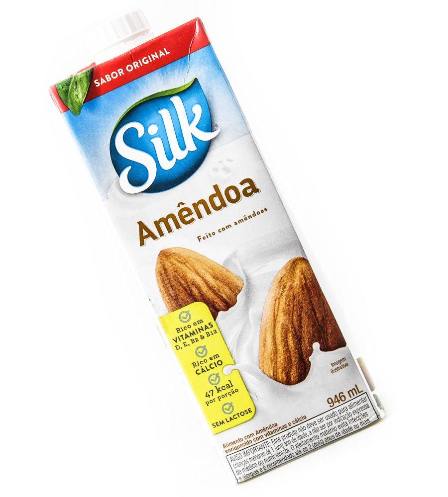 Embalagem do Leite de Amêndoas da Silk