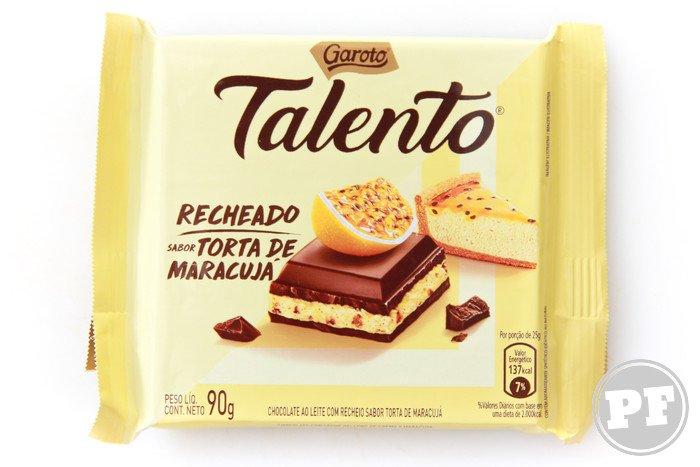 Talento Recheado Torta de Maracujá da Garoto por PratoFundo.com
