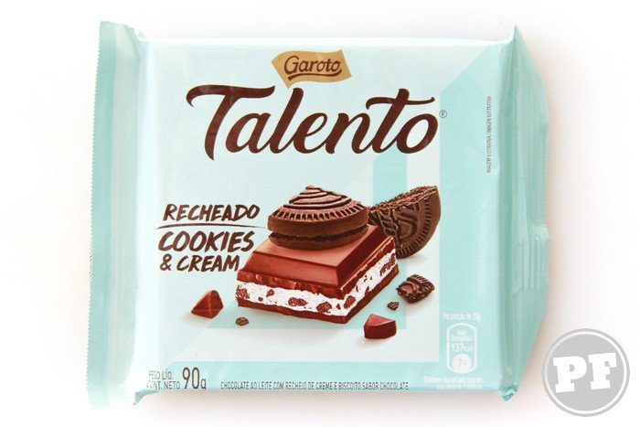 Talento Recheado Cookies & Cream da Garoto por PratoFundo.com