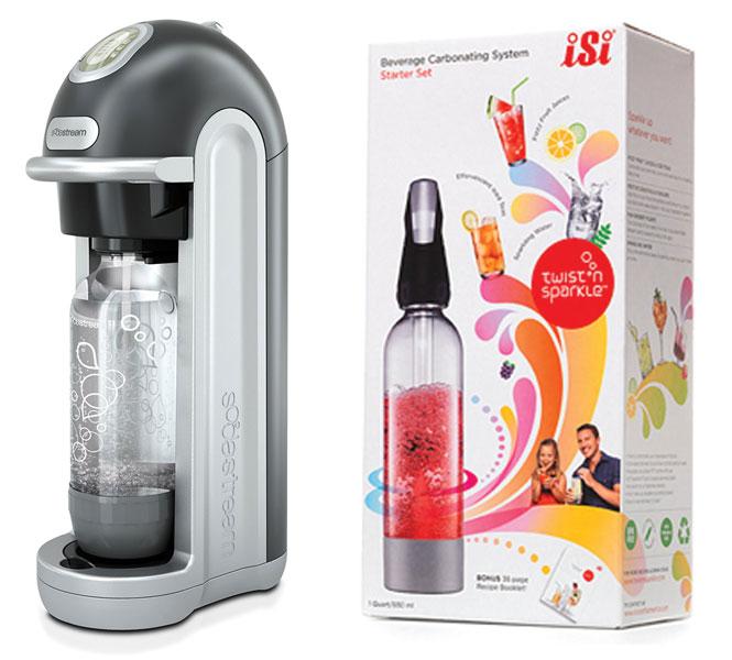 SodaStream e Twist 'n Sparkle: Água Gaseificada
