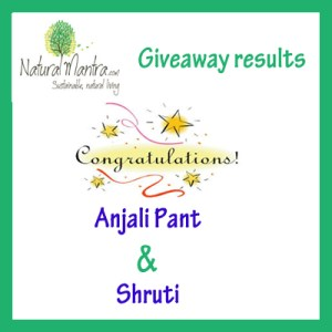 Natural Mantra Give Away Winners