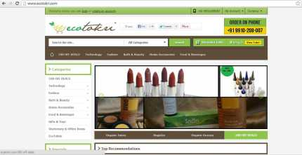 Online Store for everything Green, eco-friendly and Organic in India - EcoTokri.com