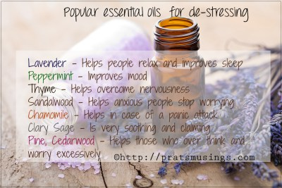 De-stress with Aromatherapy, essential oils for depression