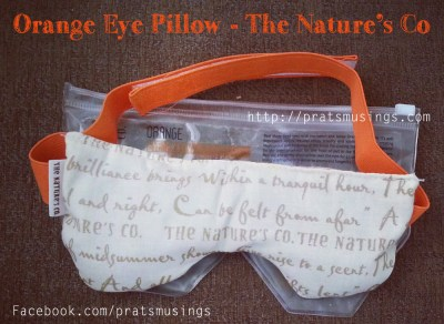 Orange Eye Pillow