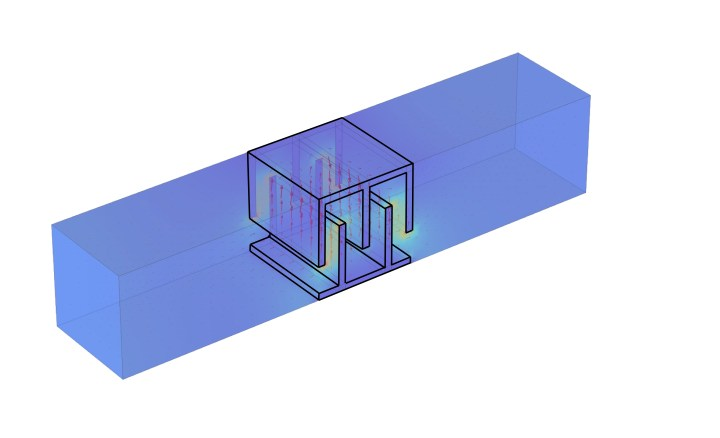 3D metamaterial simulation