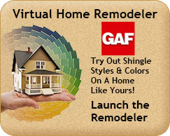 GAF roofing virtual remodeler