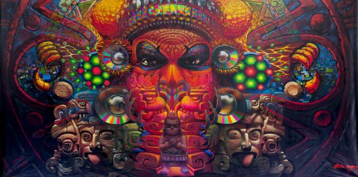 Cix, mural, colores