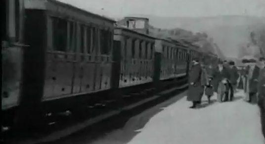 la llegada del tren