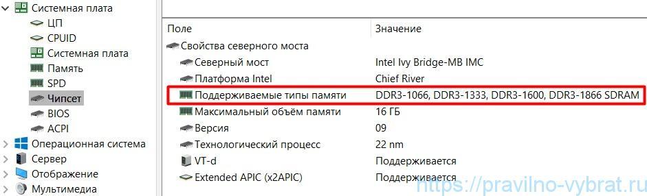 أنواع الذاكرة المدعومة محمول: DDR3-1066 / 1333/1600/1866