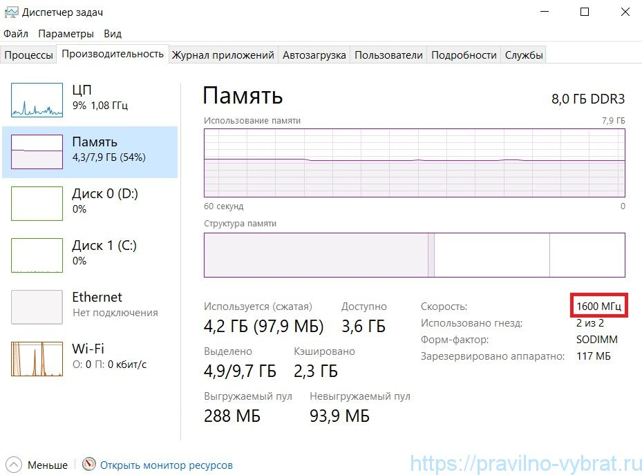 Come scoprire la frequenza di RAM su un laptop nel Task Manager