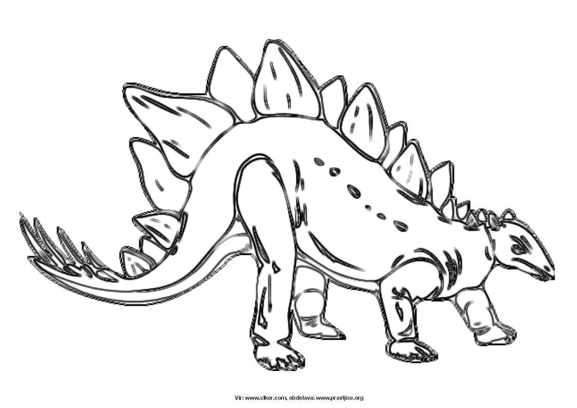 Pobarvanke Dinozavri Pobarvanke