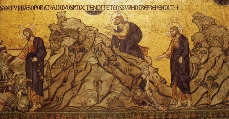 Jeudi Saint. Prier pour le calice. Mosaïque de la cathédrale de Saint Marque, Venise