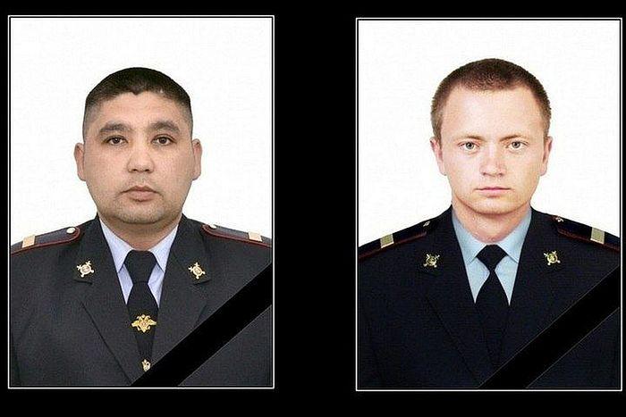 Убиенные сотрудники полиции Кайрат Рахметов и Владимир Горсков