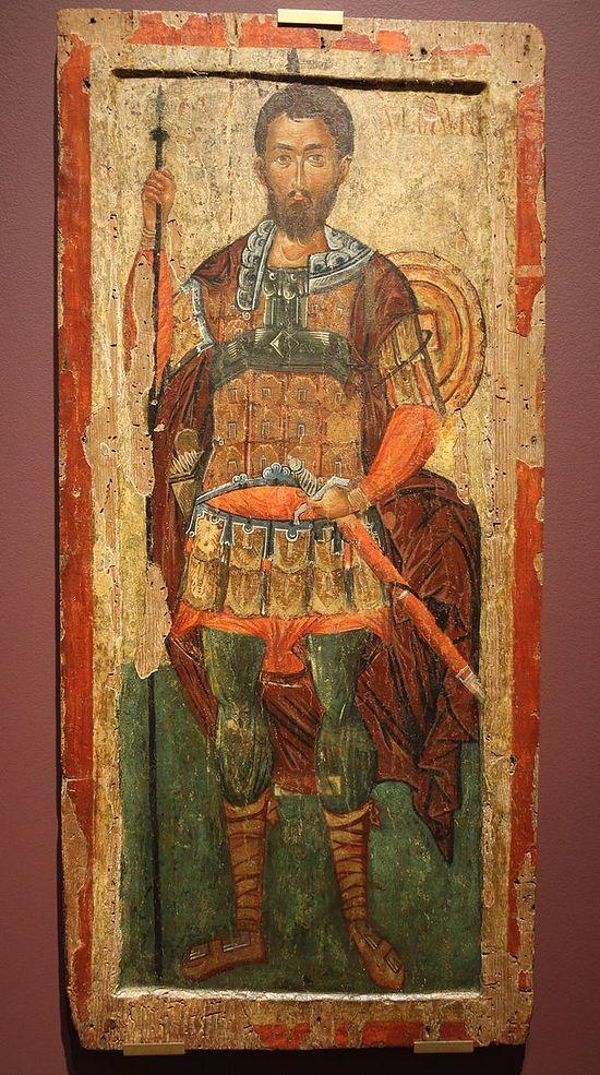 Мученик Полиевкт. Первая половина XV века. Несебр.