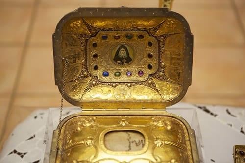 Глава преподобного Иосифа Исихаста в монастыре Святого Антония в Аризоне