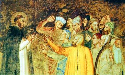 Катарма бар дау-дамайдағы Сент-Доминик. Өнер. Андреа иә, Firenz. Кескіндеме Капелла C. Флоренциядағы Санта Мария Новелла. 1366-1368