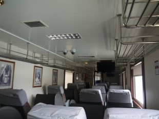 We had a sneaky peak inside the first class cabin
