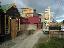 Outside the Baguales microbrewery in Puerto Natales