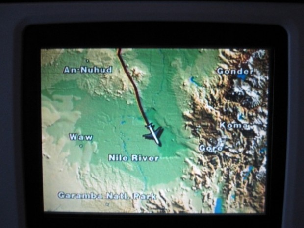 """""""The map on the seat-back screen. I realized that I was flying over places i had never heard of before..."""""""