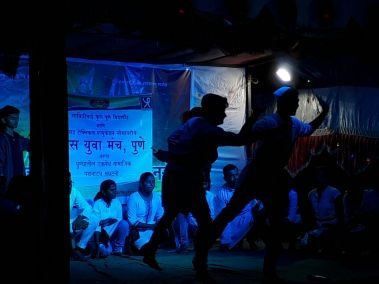 Street Play in Pune on the occasion of Ganesh Festival - Aug 2017