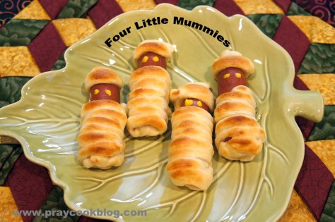 4 little mummies baked