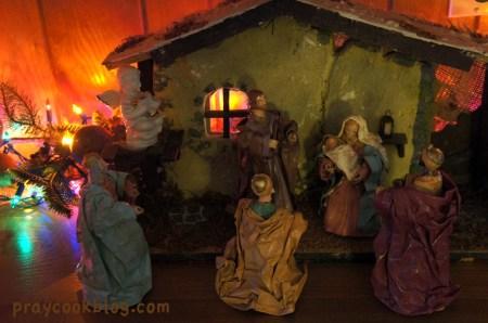 paper mache nativity 2