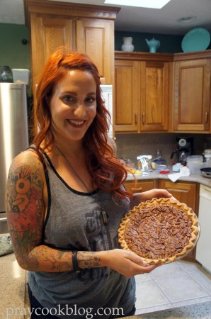 Abbey's first pecan pie finished