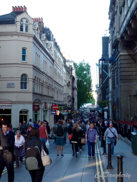 Friday afternoon on the streets of London.
