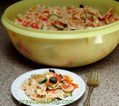 single plate pasta salad