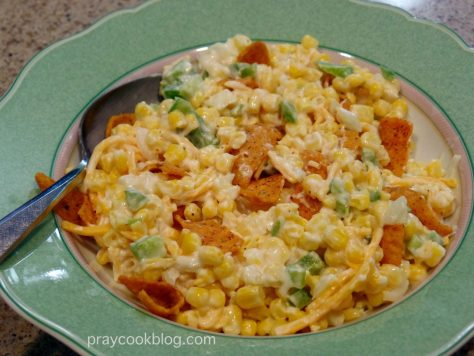 chili cheesre corn salad bowl
