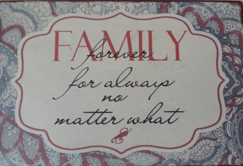 Family Forever For Always Plaque