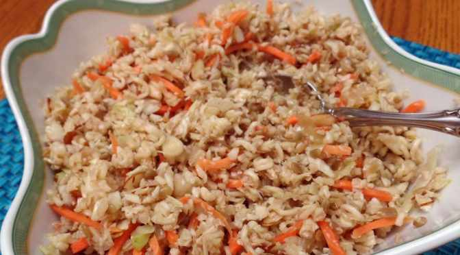 My first blog post and  Asian Slaw!