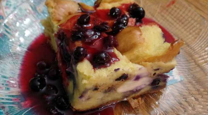 Baked Blueberry Cream French Toast
