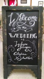 Abby wedding blackboard