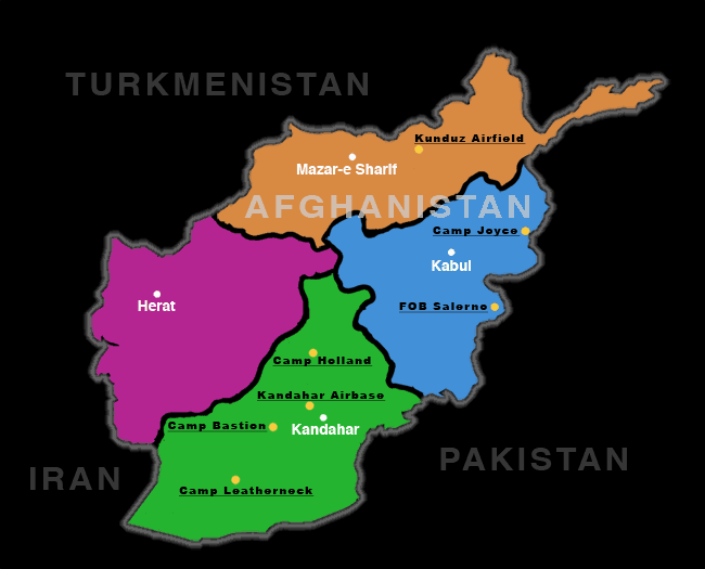 Maps And Details On Bases Prayercentralnet - Us military bases in afghanistan 2017 map
