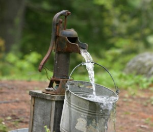 To the well