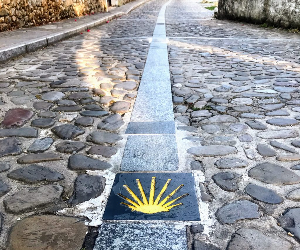 Camino de Santiago shell marker