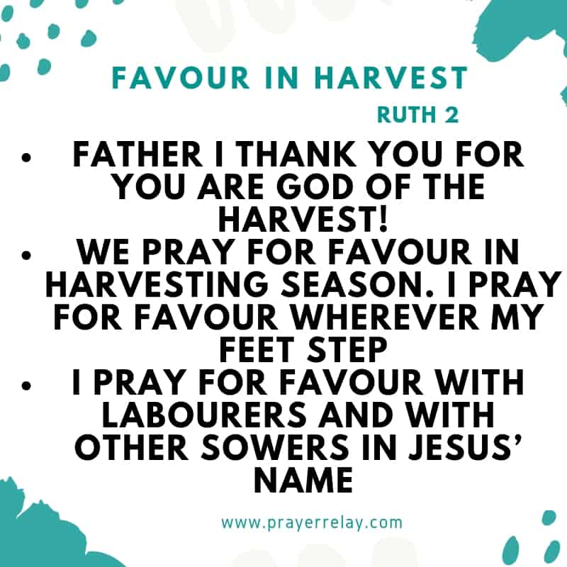Prayer for seed sowing