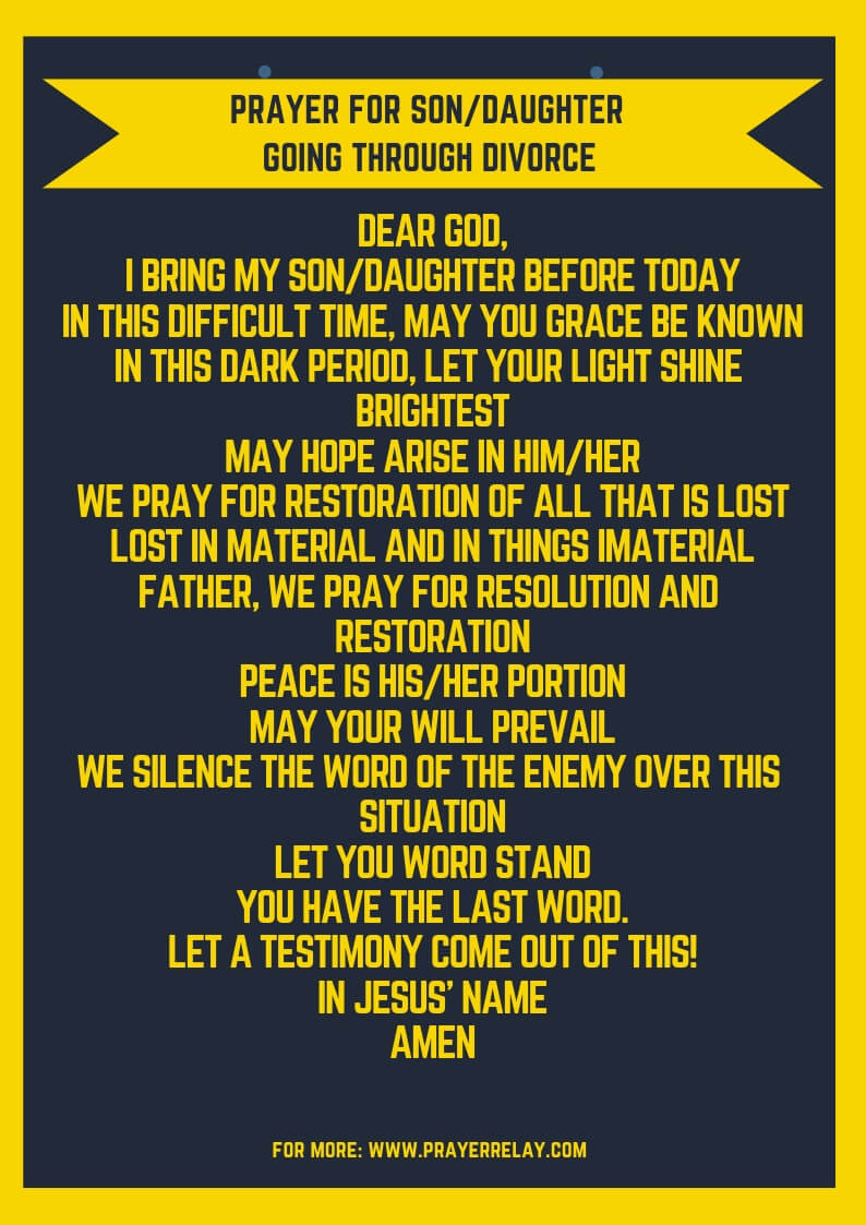 And prayer to stop restore marriage divorce 25 Spiritual